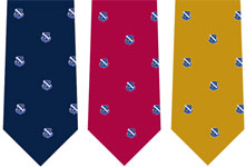 Men's slik ties with SSCI logo in choice of colors